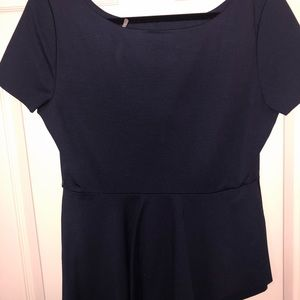 Tahari peplum shirt! Large